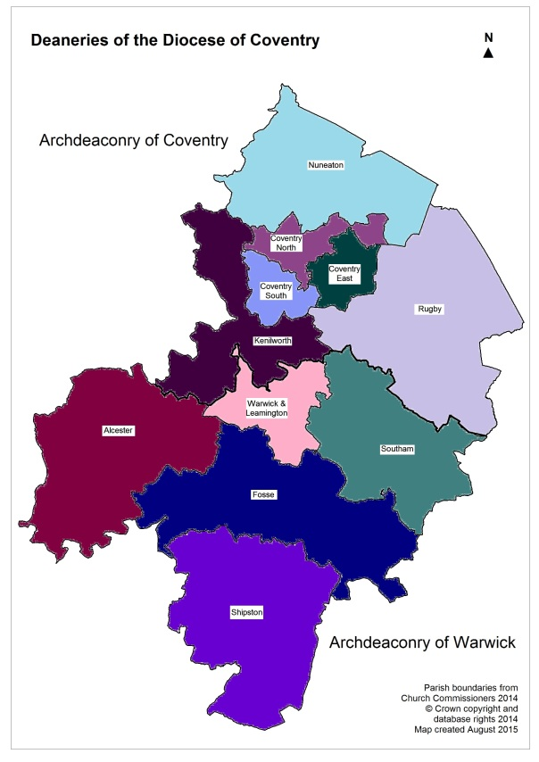 _Deaneries of the Diocese of Coventry_August 15 coloured